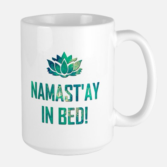 NAMASTAY IN BED! Mugs