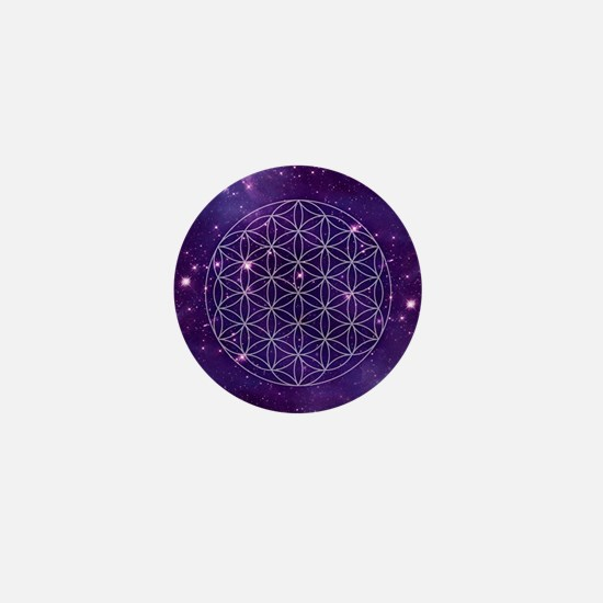Flower Of Life Motif Mini Button