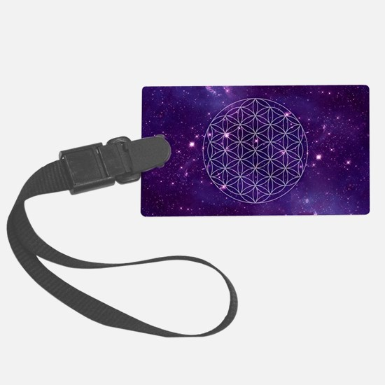 Flower Of Life Motif Luggage Tag