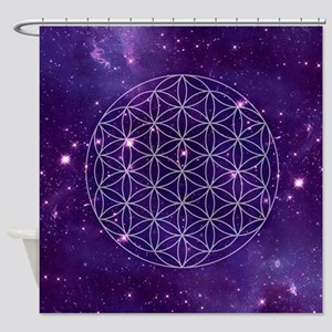 Flower Of Life Motif Shower Curtain