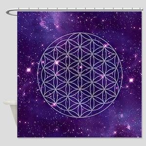 Flower Of Life Motif Shower Curtain