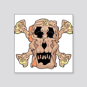 Nudie Pirate Rectangle Sticker