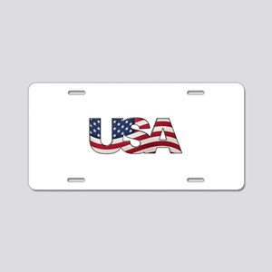 Cool USA signage with real Aluminum License Plate