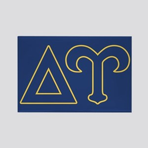 Delta Upsilon Letters Rectangle Magnet