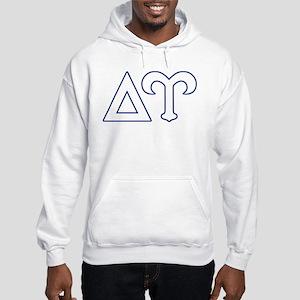 Delta Upsilon Letters Hooded Sweatshirt