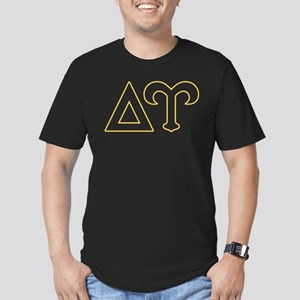 Delta Upsilon Letters Men's Fitted T-Shirt (dark)