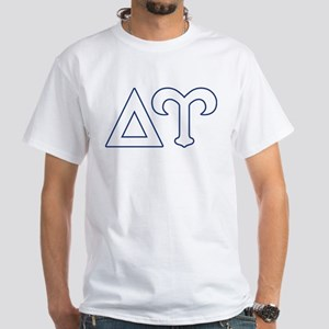 Delta Upsilon Letters White T-Shirt