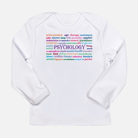 Psychology Word Cloud Long Sleeve T-Shirt