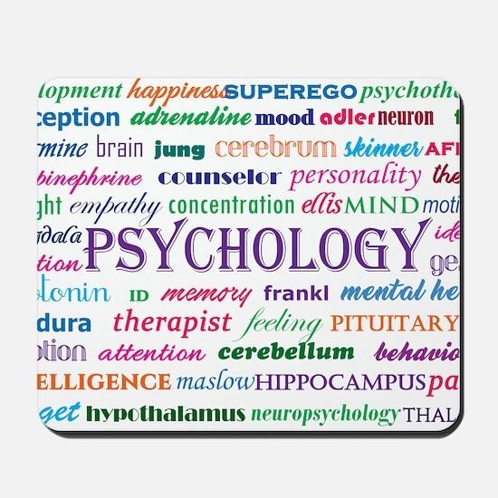 Psychology Word Cloud Mousepad