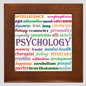 Psychology Word Cloud Framed Tile
