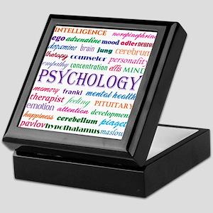 Psychology Word Cloud Keepsake Box