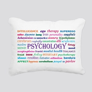 Psychology Word Cloud Rectangular Canvas Pillow
