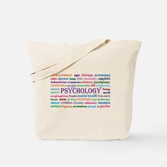 Psychology Word Cloud Tote Bag