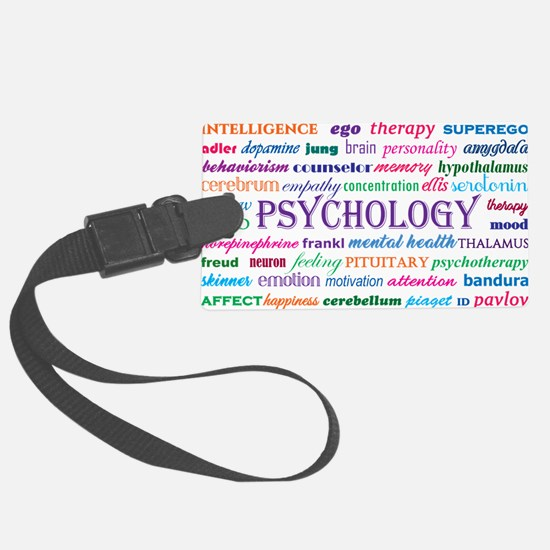 Psychology Word Cloud Luggage Tag