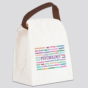 Psychology Word Cloud Canvas Lunch Bag