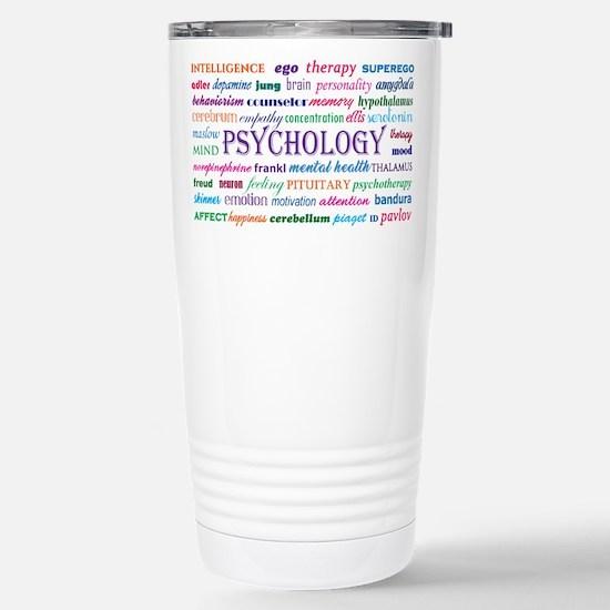 Psychology Word Cloud Travel Mug