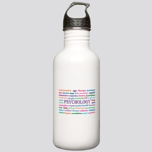 Psychology Word Cloud Water Bottle