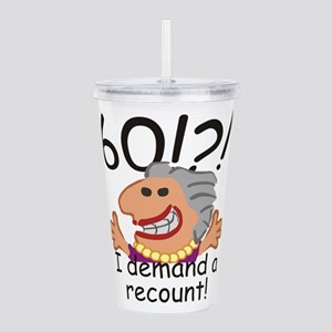 Recount 60th Birthday Acrylic Double-wall Tumbler