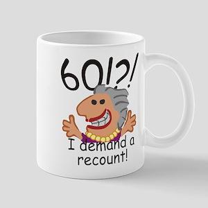 Recount 60th Birthday Mugs