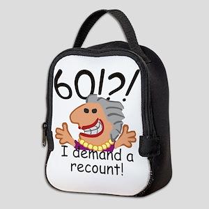 Recount 60th Birthday Neoprene Lunch Bag