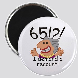 Recount 65th Birthday Magnets