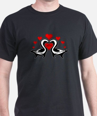 Personalized Skunks In Love T-Shirt