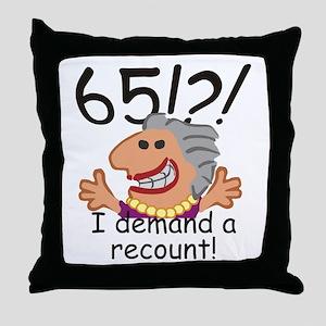 Recount 65th Birthday Throw Pillow