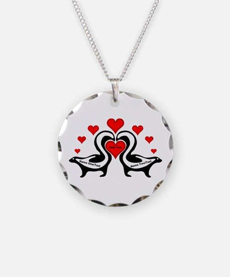 Personalized Skunks In Love Necklace