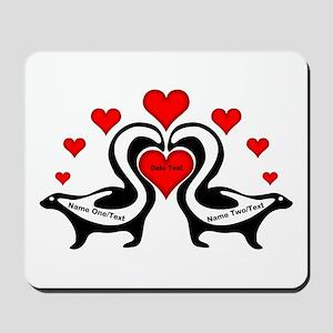 Personalized Skunks In Love Mousepad