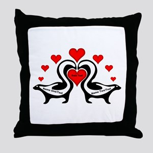 Personalized Skunks In Love Throw Pillow