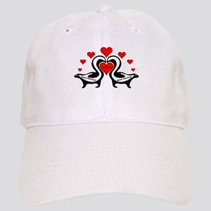 Personalized Skunks In Love Cap