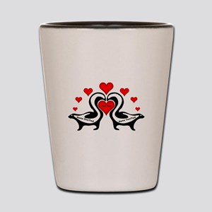Personalized Skunks In Love Shot Glass