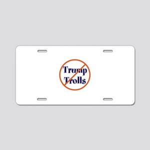 No trump trolls Aluminum License Plate
