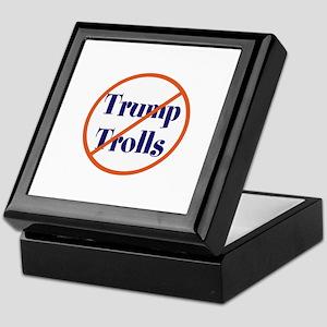 No trump trolls Keepsake Box