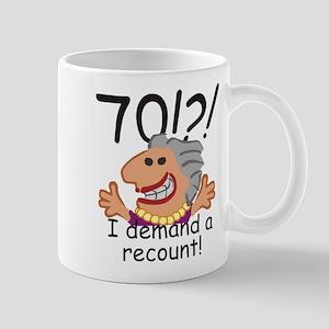 Recount 70th Birthday Mugs