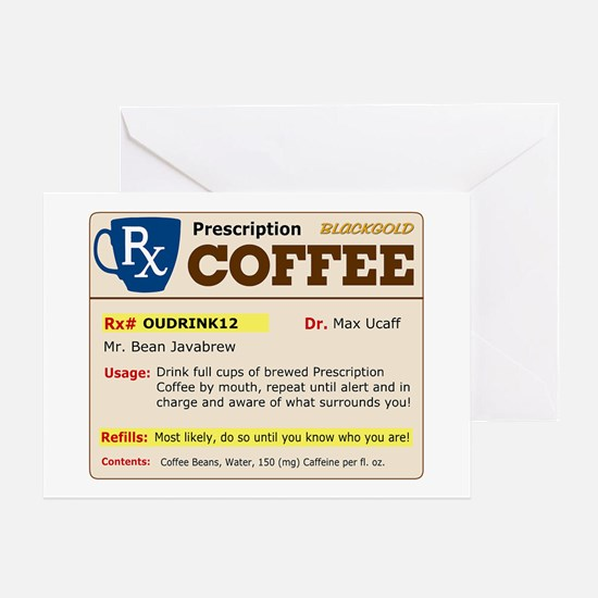 Prescription Coffee Greeting Cards