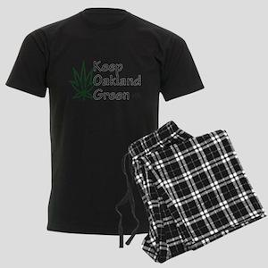 Keep Oakland Green (black text, transparent) Pajam