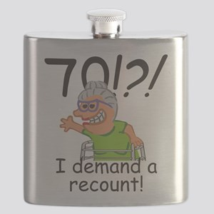 Recount 70th Birthday Funny Old Lady Flask