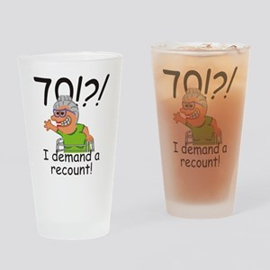 Recount 70th Birthday Funny Old Lady Drinking Glas