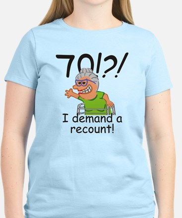Recount 70th Birthday Funny Old Lady T-Shirt