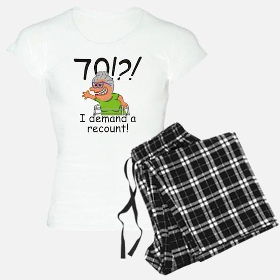 Recount 70th Birthday Funny Old Lady Pajamas