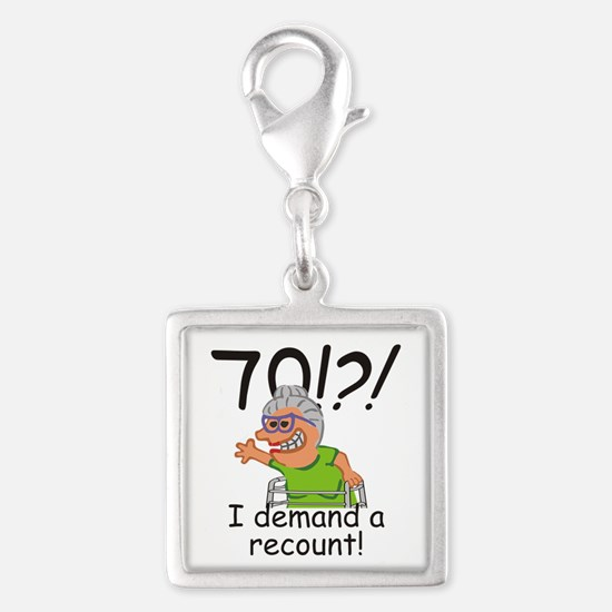 Recount 70th Birthday Funny Old Lady Charms