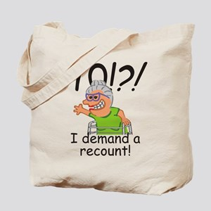 Recount 70th Birthday Funny Old Lady Tote Bag
