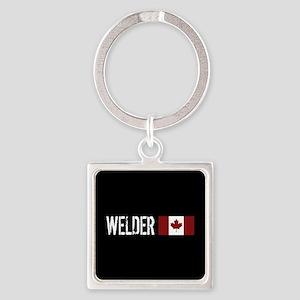Welding: Welder (Canadian Flag) Square Keychain