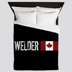 Welding: Welder (Canadian Flag) Queen Duvet