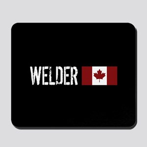 Welding: Welder (Canadian Flag) Mousepad