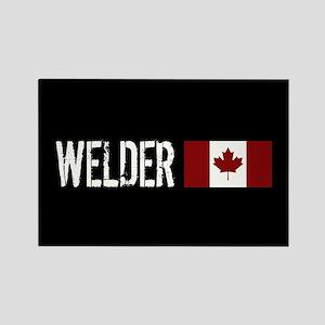 Welding: Welder (Canadian Flag) Rectangle Magnet