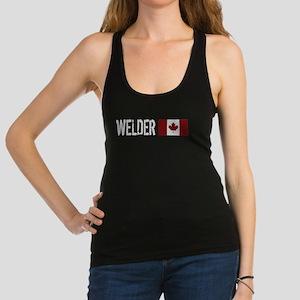 Welding: Welder (Canadian Flag) Racerback Tank Top