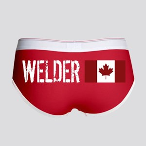 Welding: Welder (Canadian Flag) Women's Boy Brief