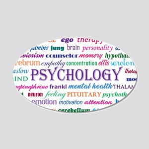 Psychology Word Cloud Wall Decal